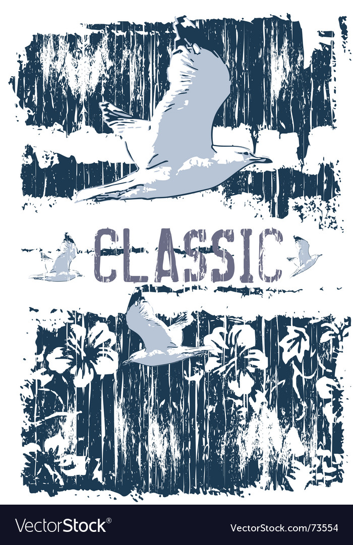 Classic gull vector | Price: 1 Credit (USD $1)