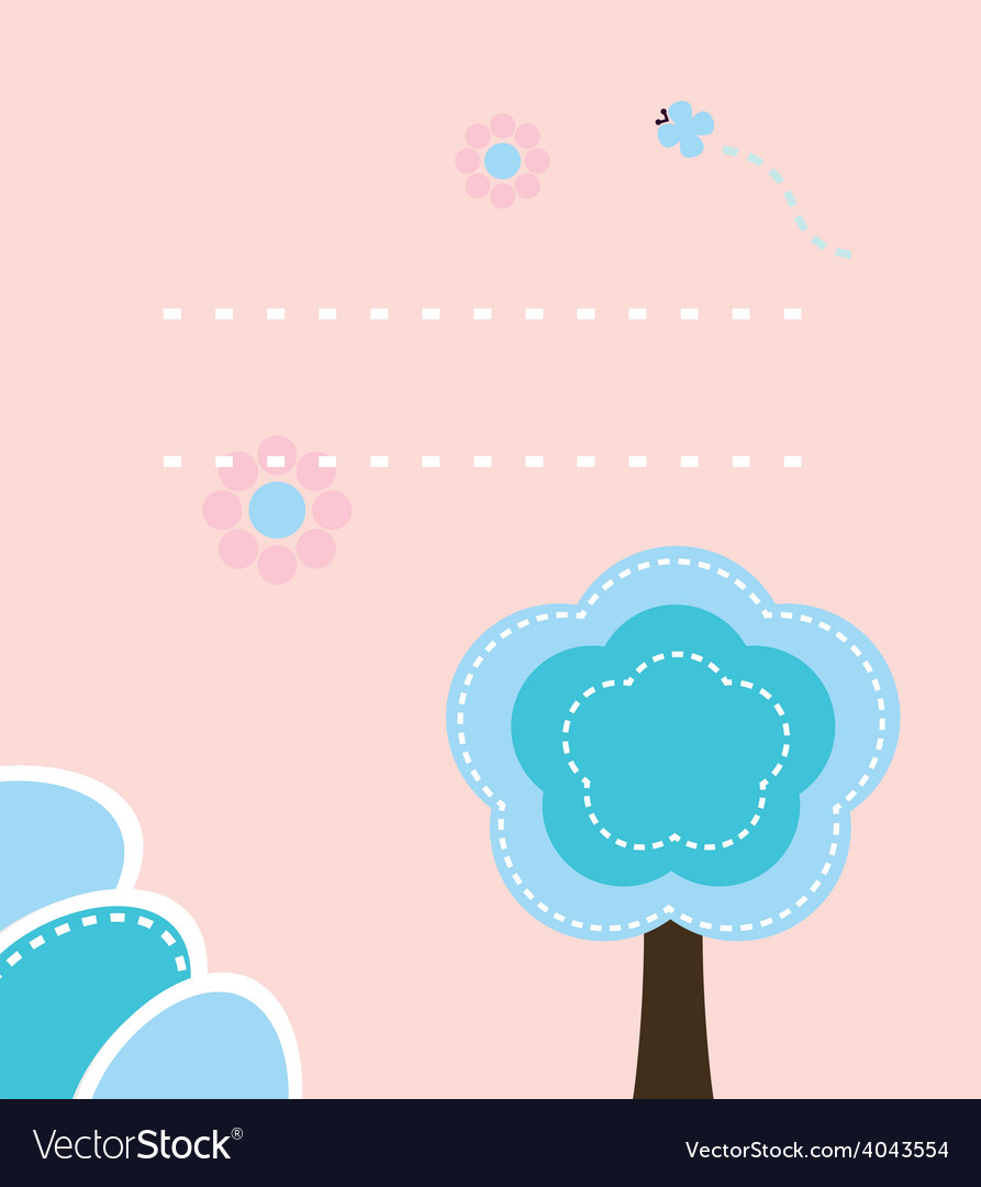 Cute easter nature background or print vector | Price: 1 Credit (USD $1)