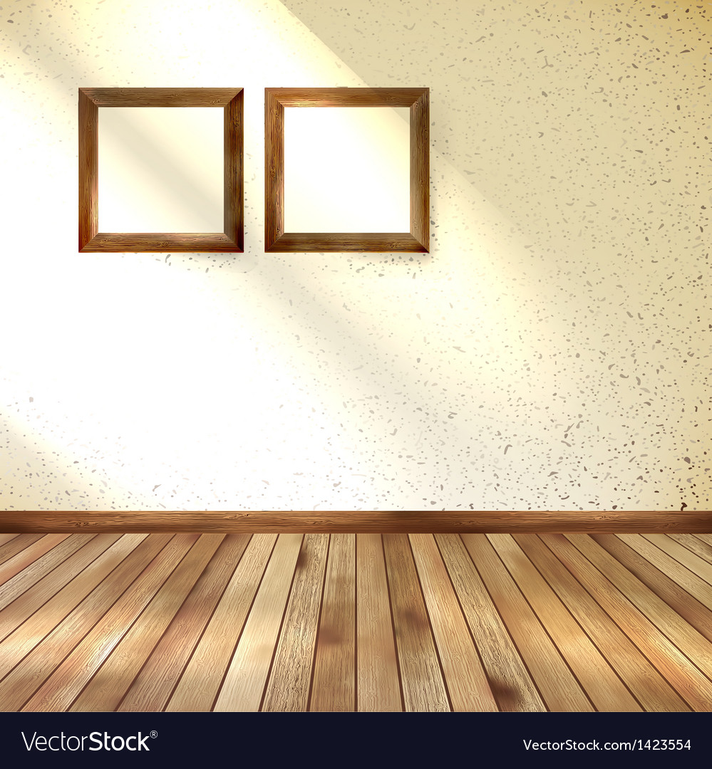 Frame hanging on wall interior template eps 10 vector | Price: 1 Credit (USD $1)