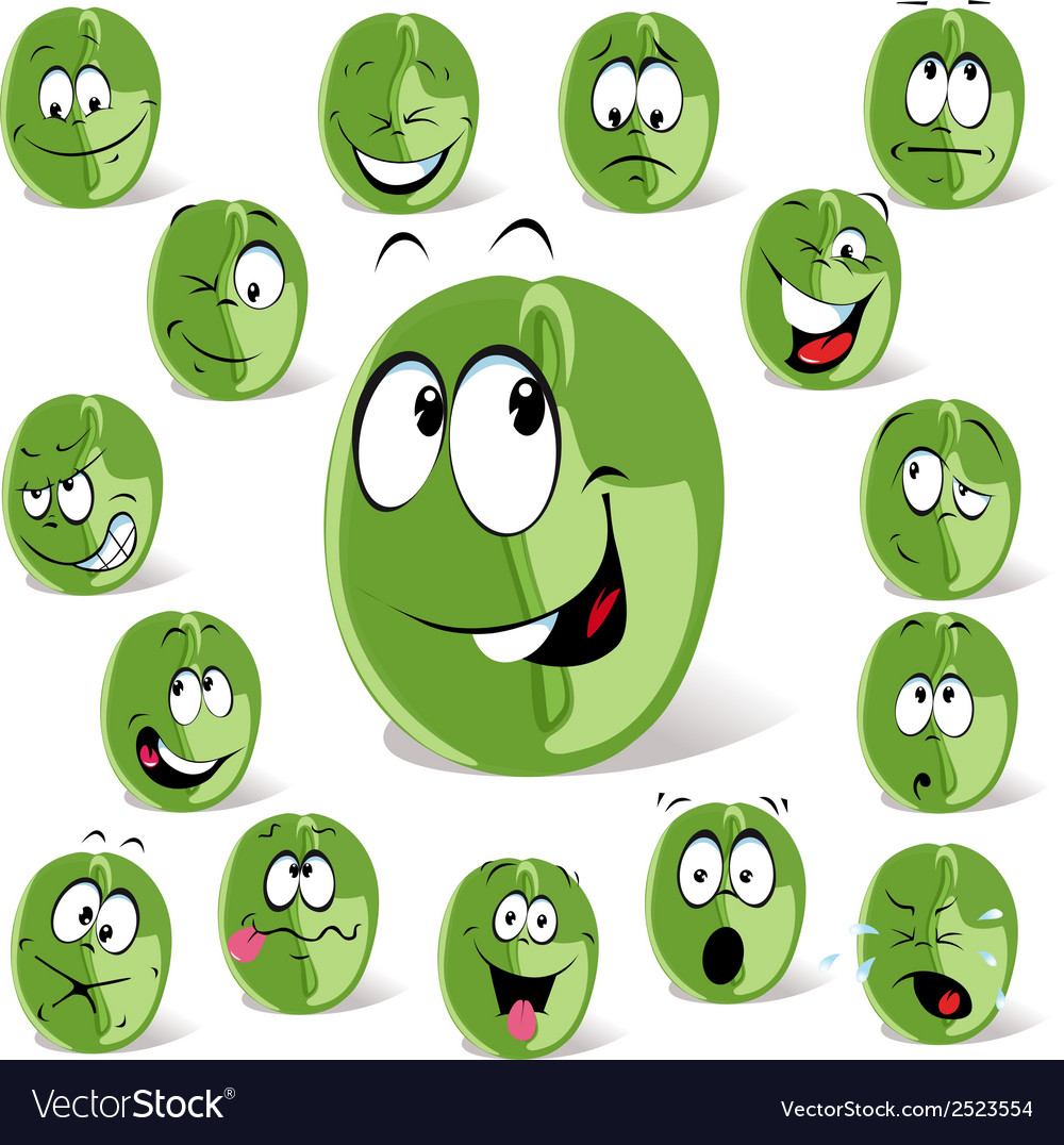 Green coffee bean vector | Price: 1 Credit (USD $1)