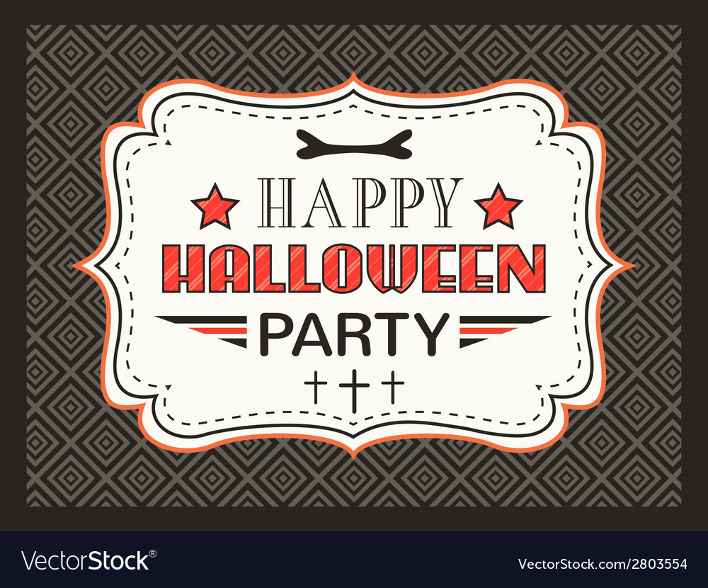 Happy halloween party card typography letters font vector | Price: 1 Credit (USD $1)