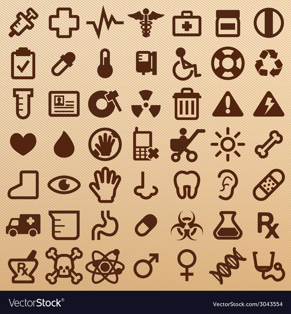 Hospitalsymbols vector | Price: 1 Credit (USD $1)
