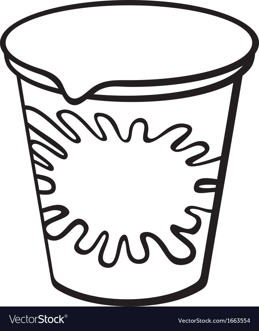Plastic container for yogurt vector | Price: 1 Credit (USD $1)