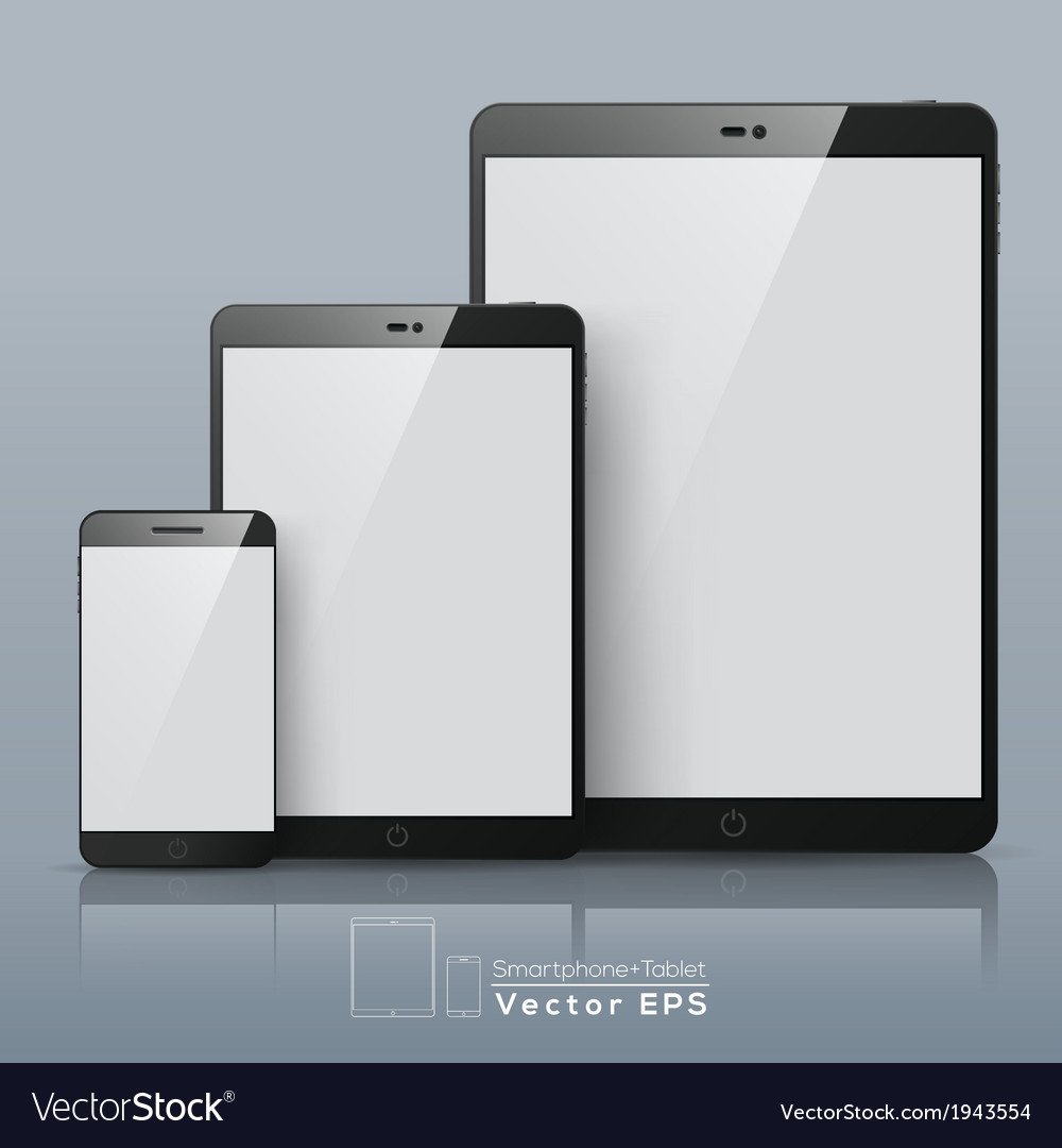 Set of smart phone and tablet vector | Price: 1 Credit (USD $1)