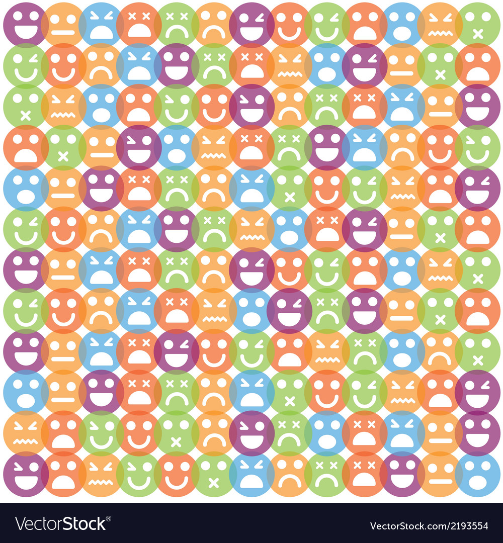 Smile icon seamless pattern vector | Price: 1 Credit (USD $1)