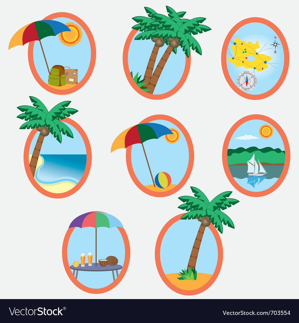Vacation theme vector | Price: 1 Credit (USD $1)