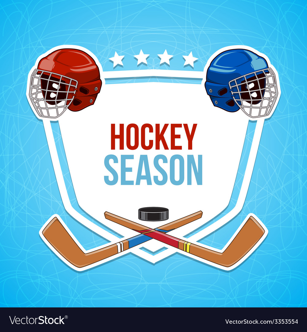 Winter sports background hockey season vector | Price: 1 Credit (USD $1)