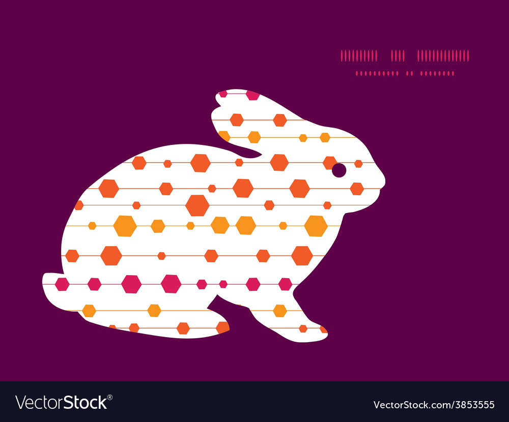 Abstract colorful stripes and shapes bunny vector | Price: 1 Credit (USD $1)