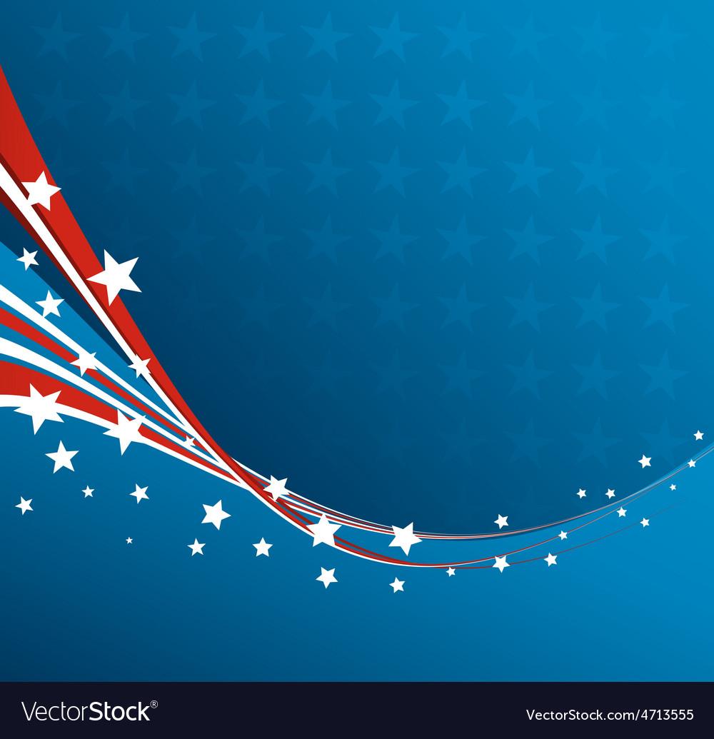 American flag patriotic background vector | Price: 1 Credit (USD $1)