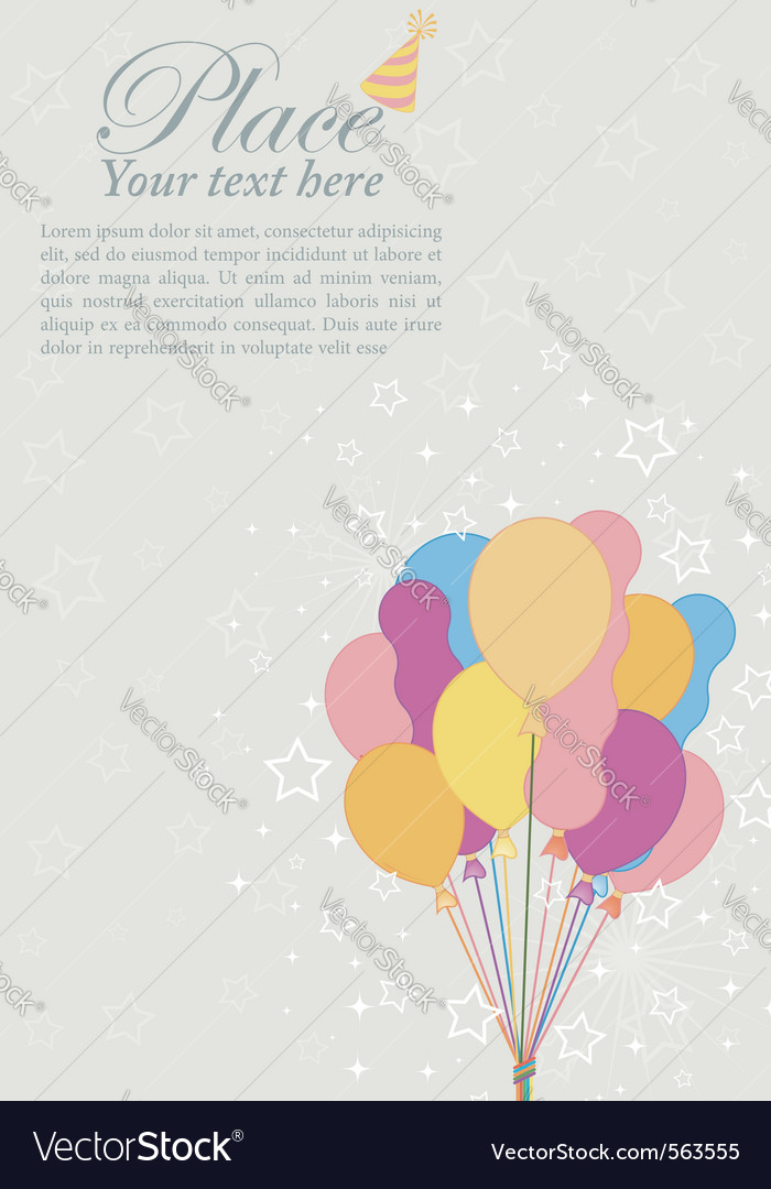 Birthday retro background vector | Price: 1 Credit (USD $1)