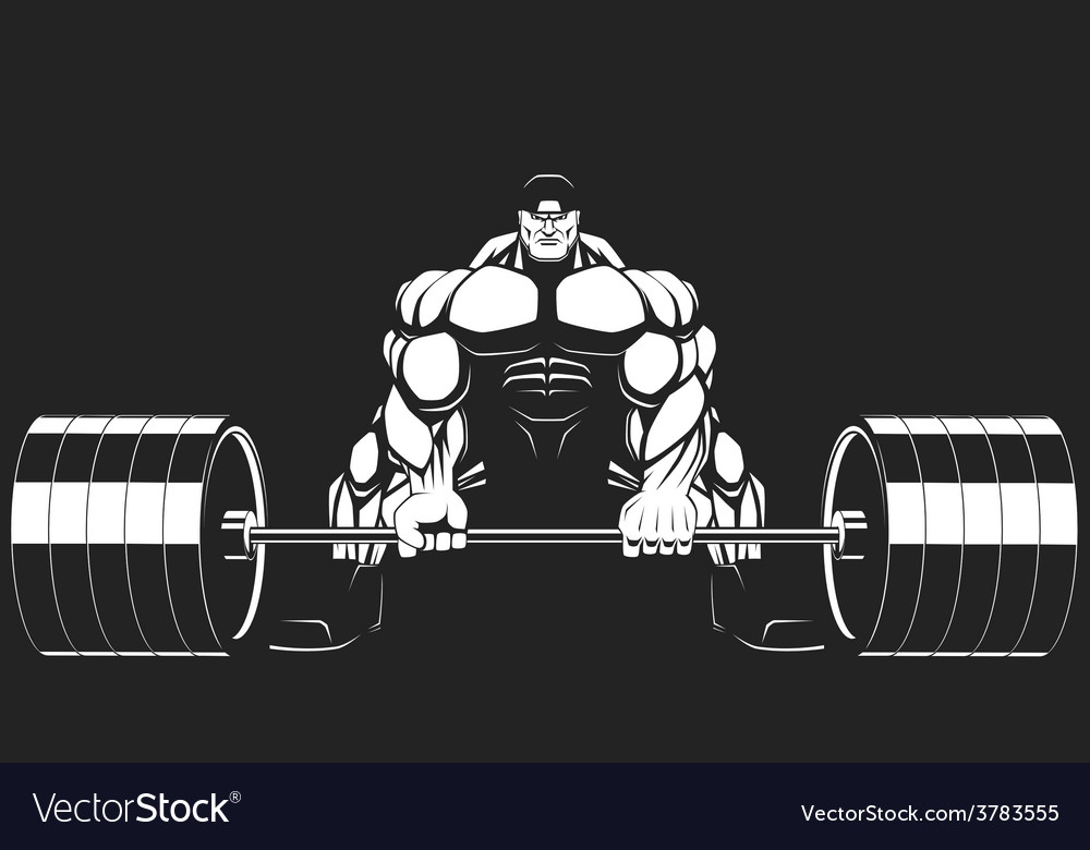 Bodybuilder with a barbell vector | Price: 3 Credit (USD $3)