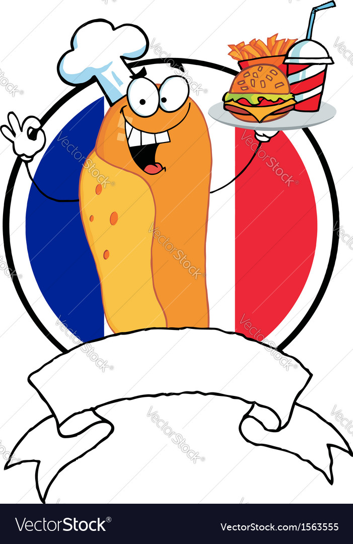 Cartoon hot dog chef vector | Price: 1 Credit (USD $1)