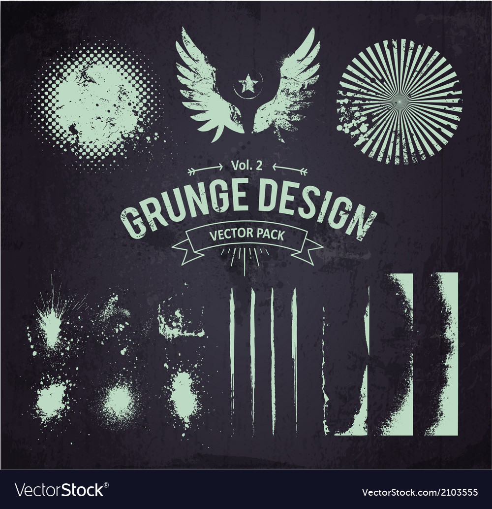 Dirty grunge elements set 2 vector | Price: 1 Credit (USD $1)