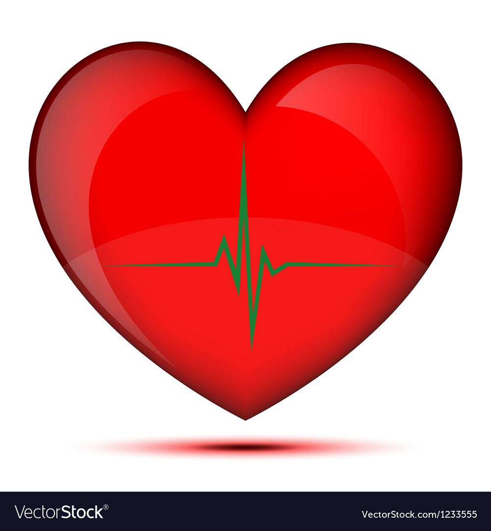 Healthy glowing heart vector | Price: 1 Credit (USD $1)