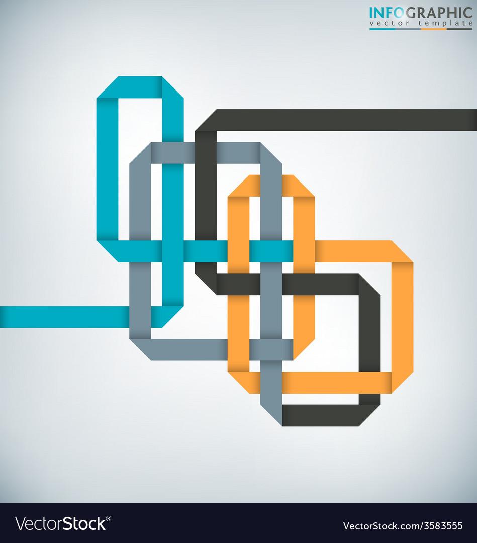 Interlaced ribbon vector | Price: 1 Credit (USD $1)