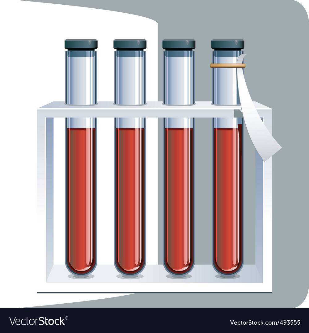 Set of test tubes vector | Price: 1 Credit (USD $1)