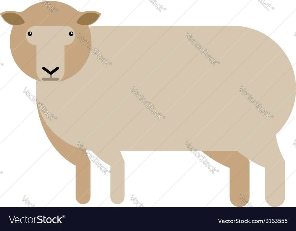 Sheep flat icon vector | Price: 1 Credit (USD $1)