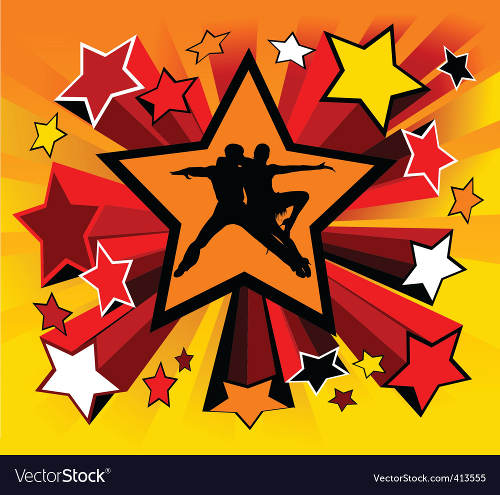 Star dance vector | Price: 1 Credit (USD $1)