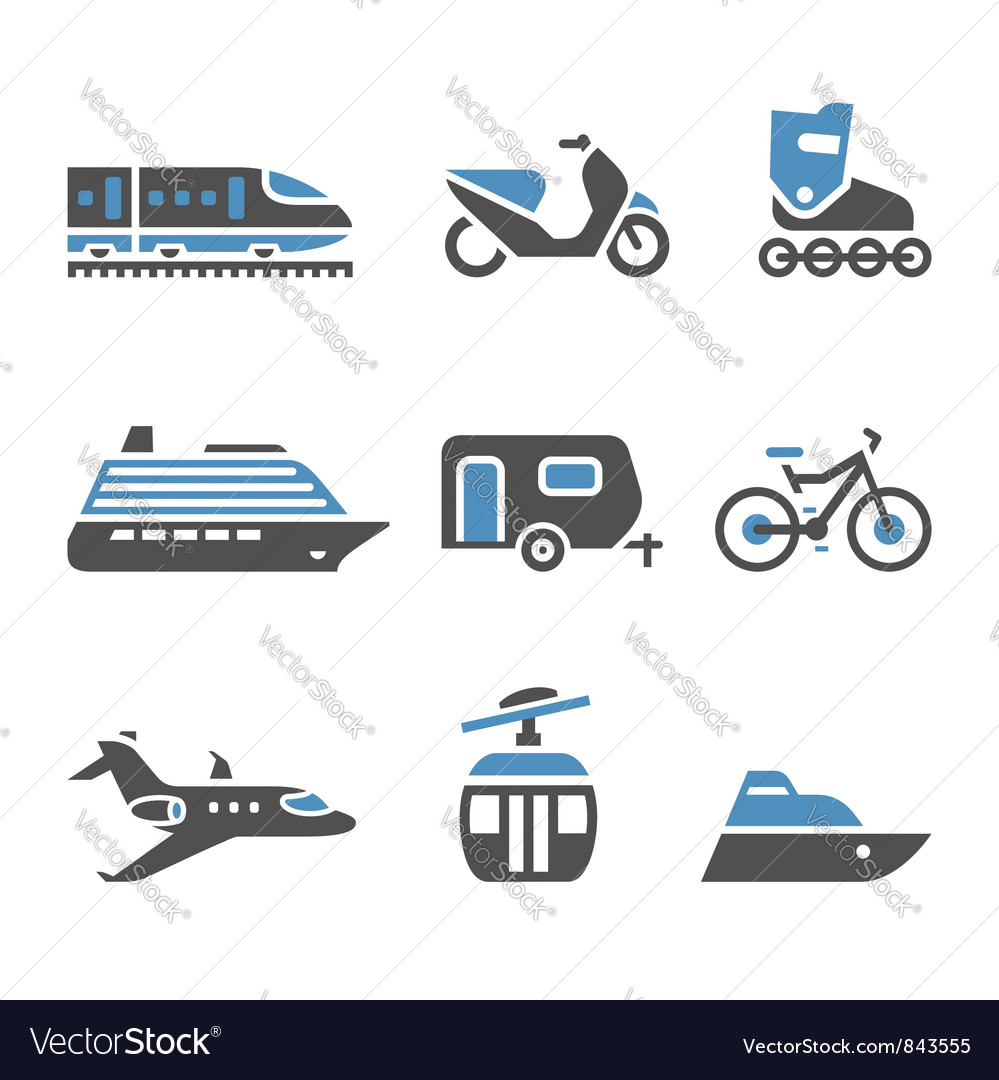 Transport icons - a set of fifth vector | Price: 1 Credit (USD $1)