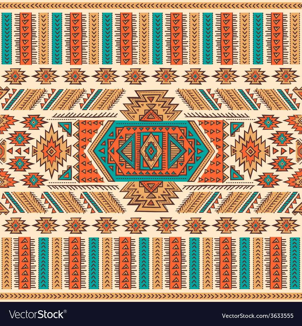 Tribal mexican ethnic seamless vector | Price: 1 Credit (USD $1)