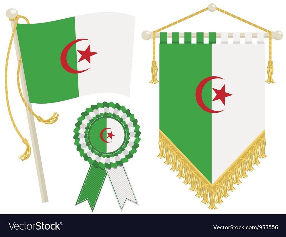 Algeria flags vector | Price: 1 Credit (USD $1)