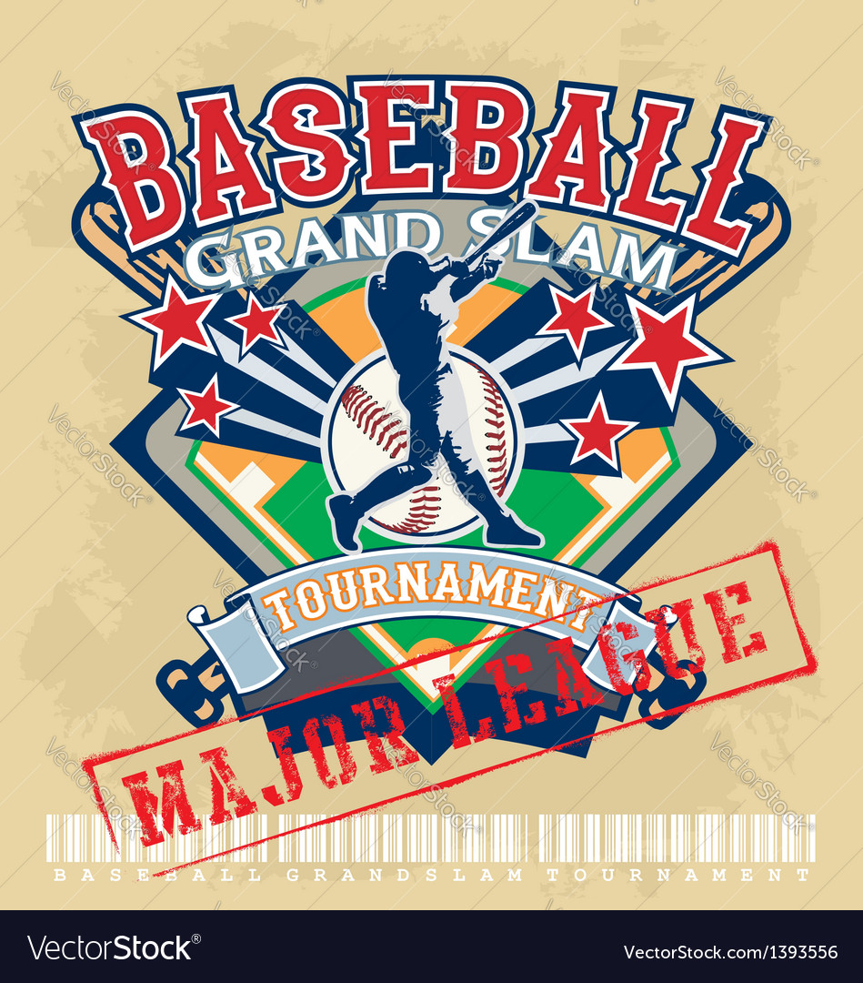 Baseball grandslam league vector | Price: 1 Credit (USD $1)