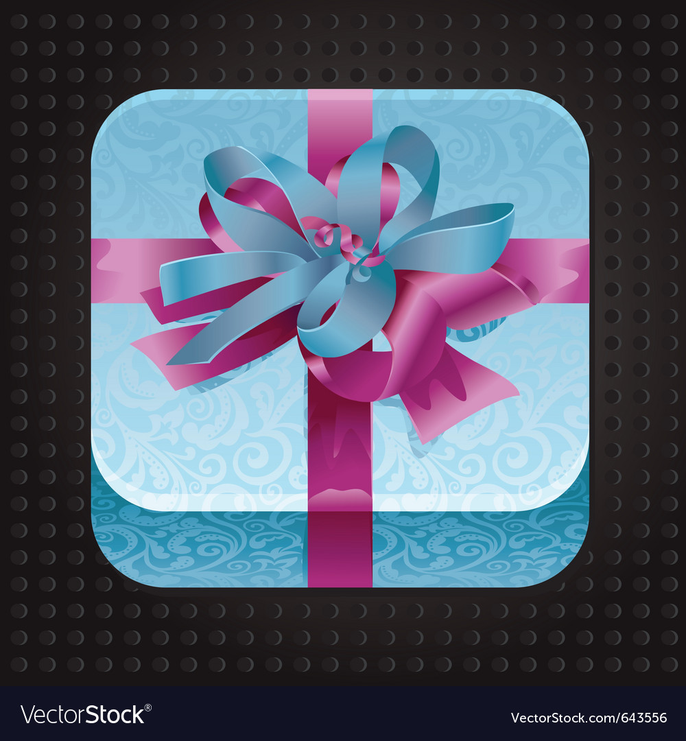 Beatiful app icon with present vector | Price: 1 Credit (USD $1)
