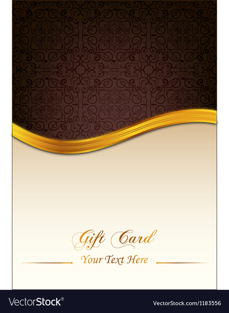 Brown gift card vector