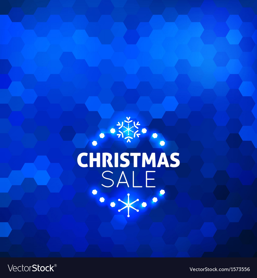 Christmas sale abstract blue background vector