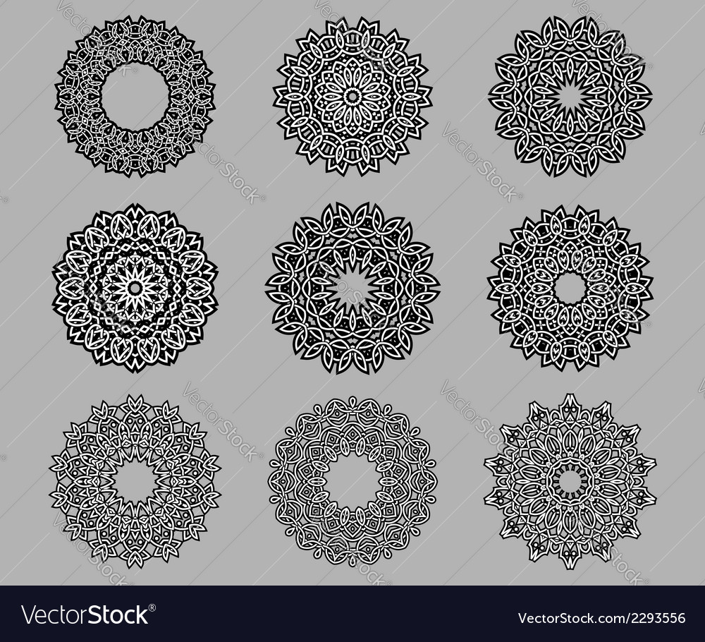 Circular ornate celtic ornaments vector | Price: 1 Credit (USD $1)