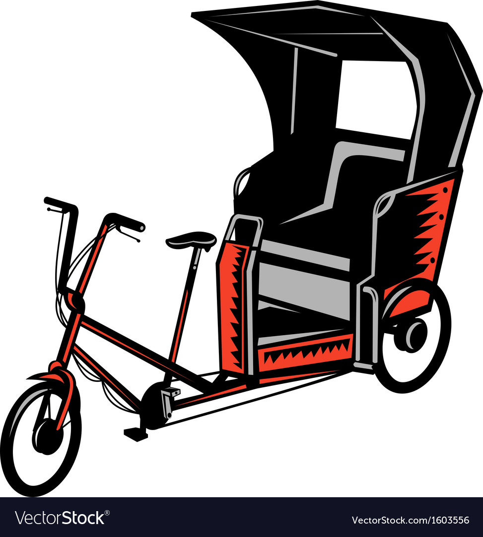 Cycle rickshaw vector | Price: 1 Credit (USD $1)