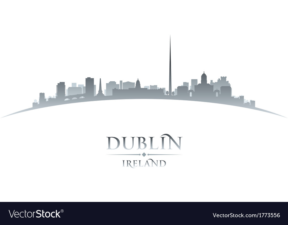 Dublin ireland city skyline silhouette vector | Price: 1 Credit (USD $1)