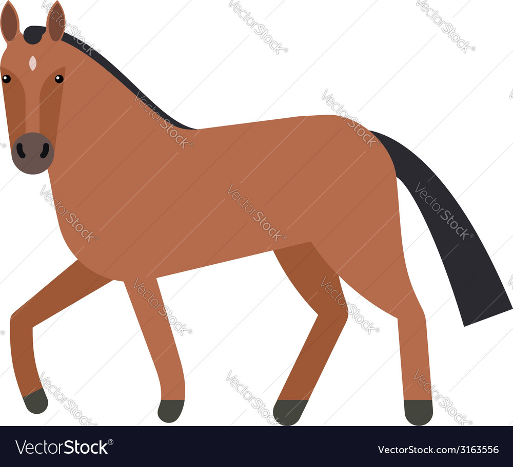 Horse flat icon vector | Price: 1 Credit (USD $1)