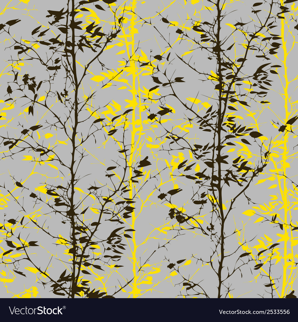 Pattern with trees silhouettes vector | Price: 1 Credit (USD $1)
