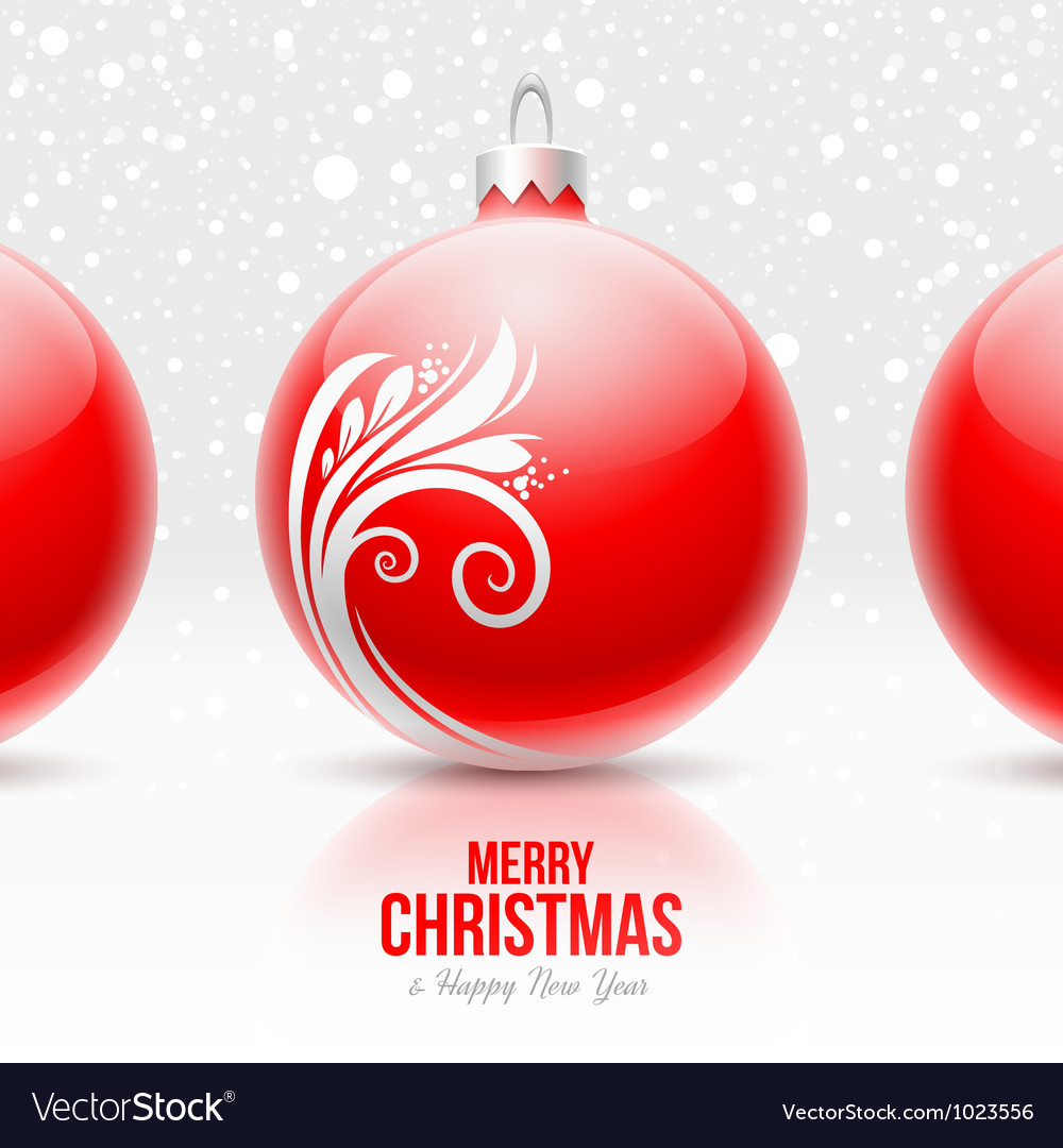Red baubles with white decor - christmas design vector | Price: 1 Credit (USD $1)