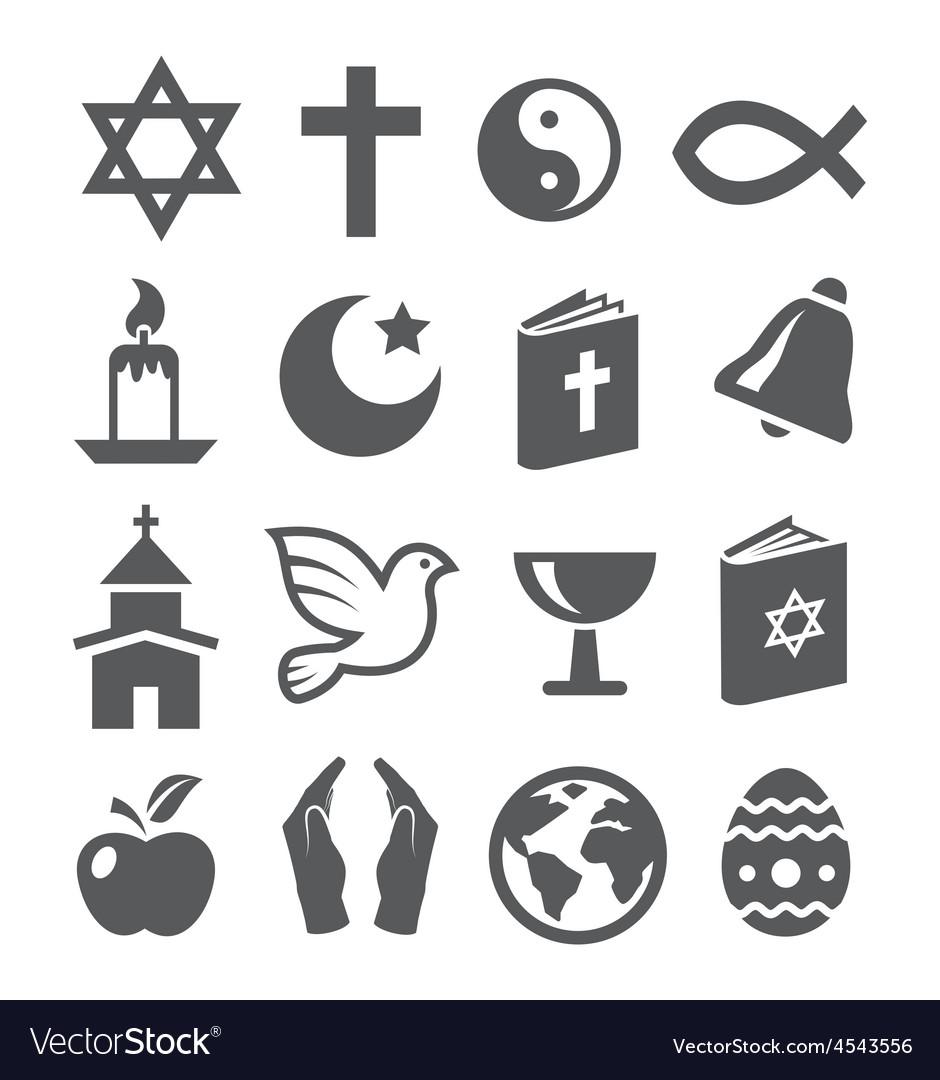 Religion icons vector | Price: 1 Credit (USD $1)