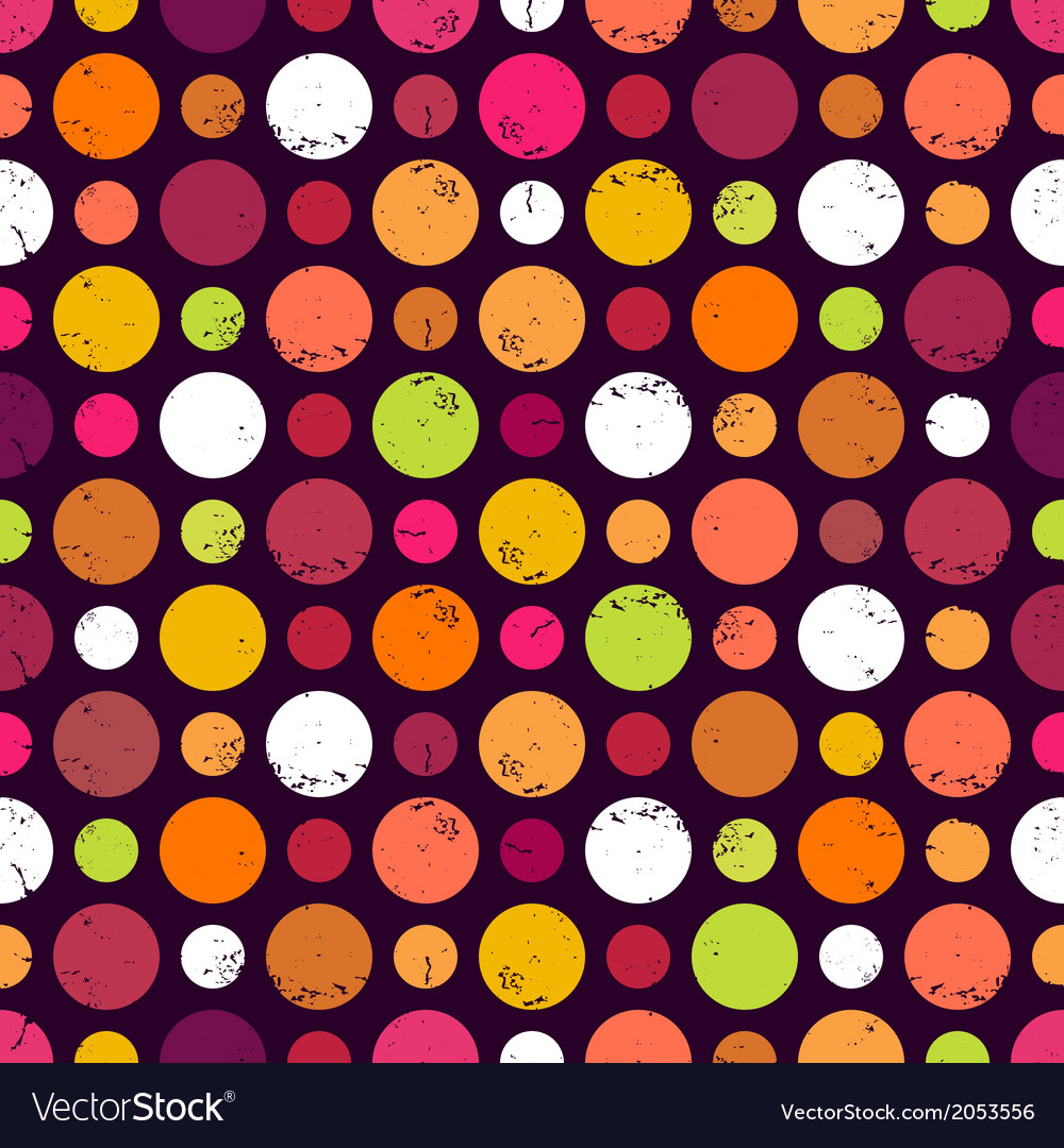 Seamless pattern with dots vector | Price: 1 Credit (USD $1)