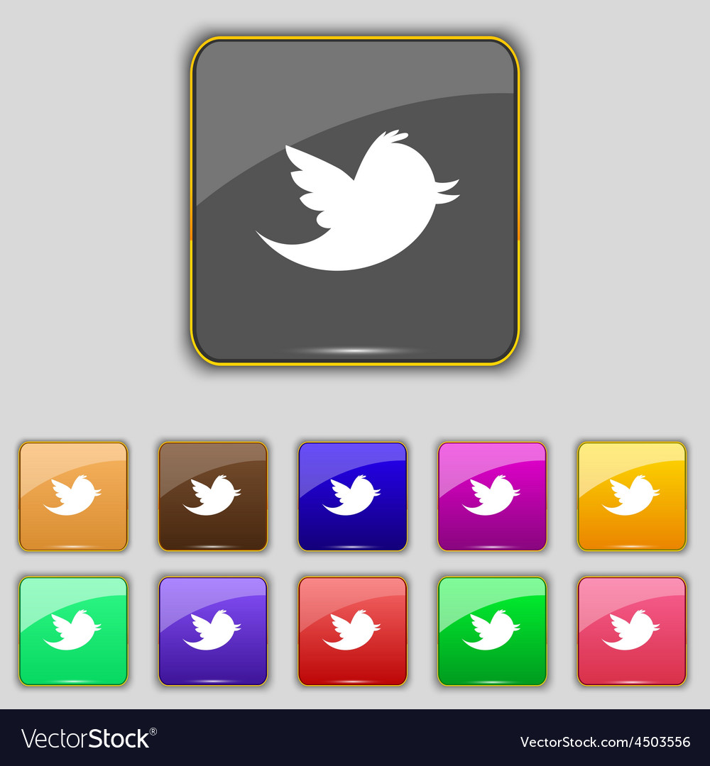 Social media messages twitter retweet icon sign vector | Price: 1 Credit (USD $1)