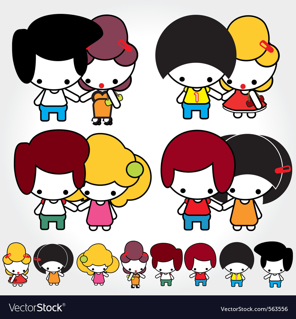 Teen couple lovers vector | Price: 1 Credit (USD $1)