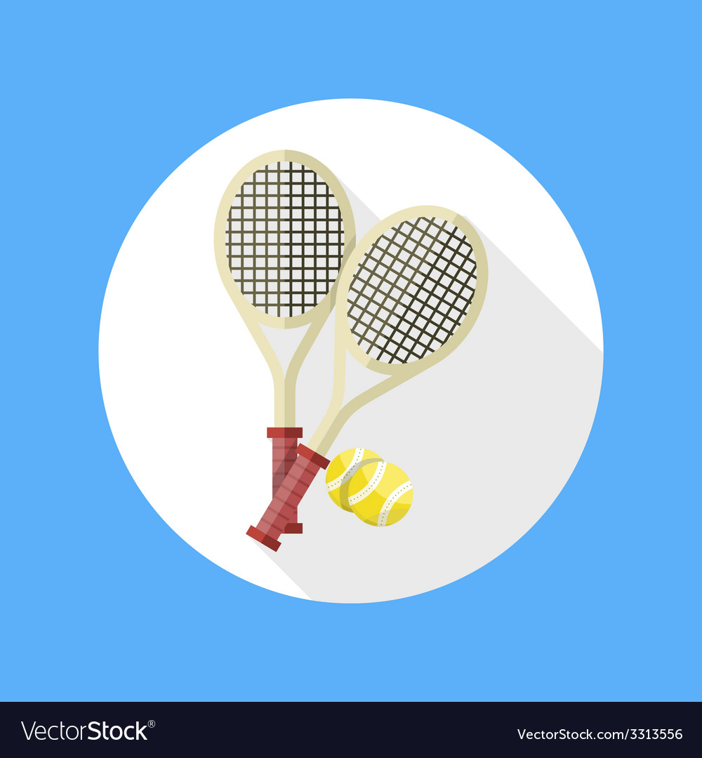 Tennis rackets and ball icon vector | Price: 1 Credit (USD $1)
