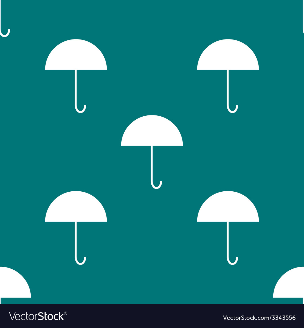 Umbrella web icon flat design seamless gray vector   Price: 1 Credit (USD $1)