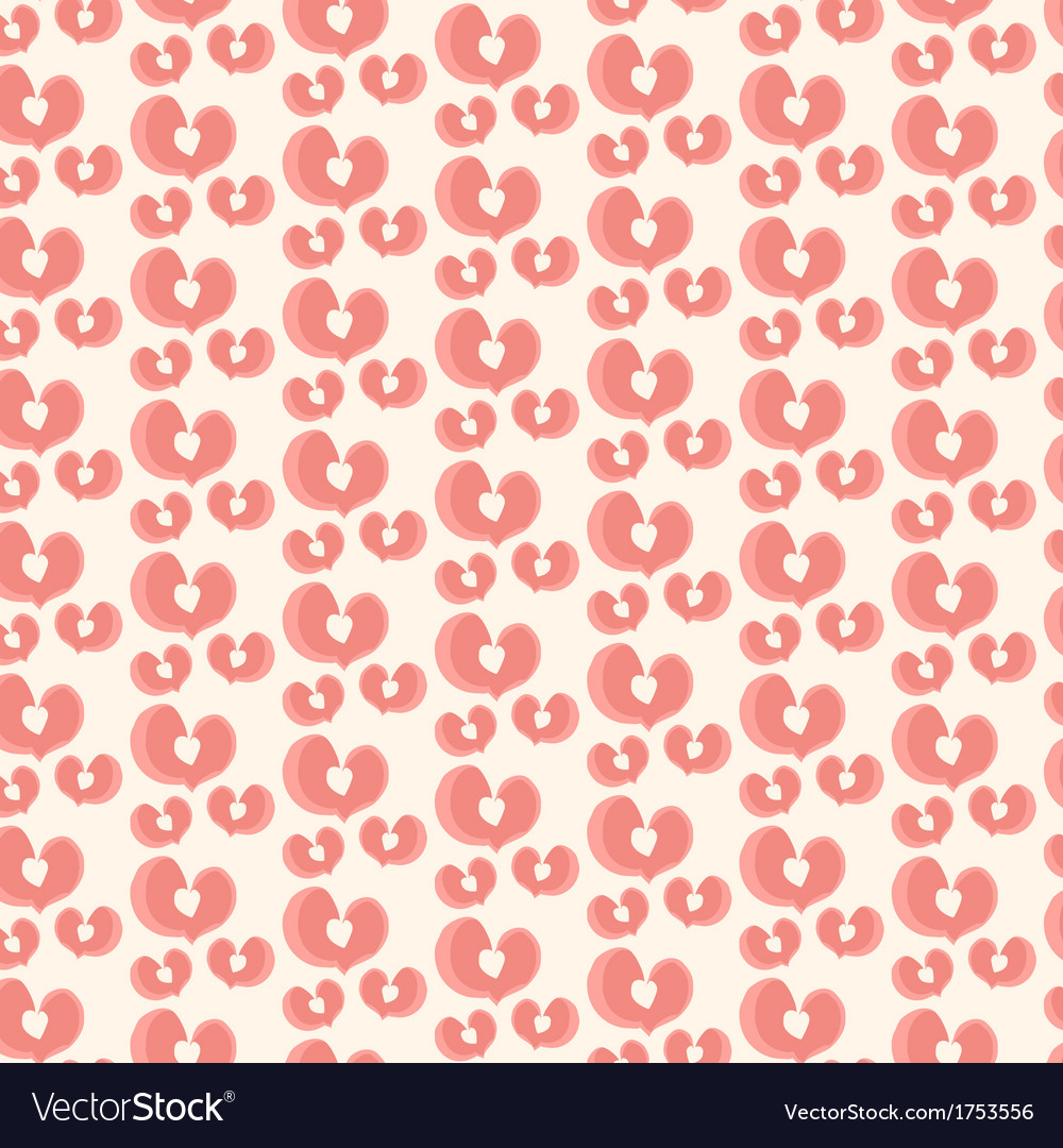 Vintage valentine pattern vector | Price: 1 Credit (USD $1)