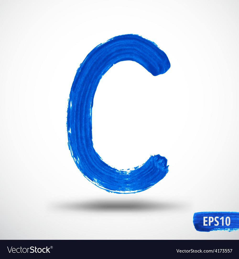 Alphabet letter c watercolor alphabet vector | Price: 1 Credit (USD $1)