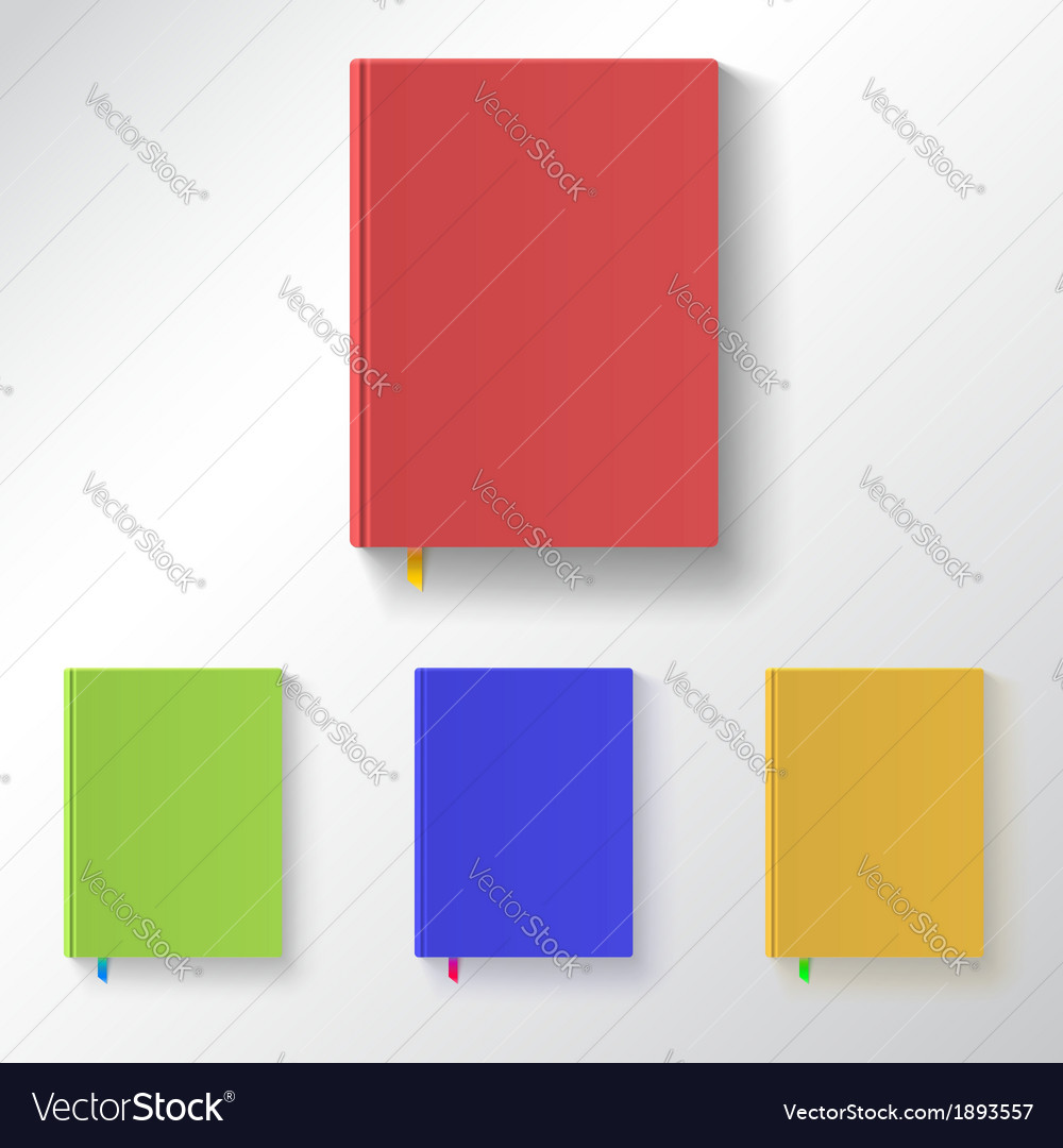 Book with color covers and bookmarks vector | Price: 1 Credit (USD $1)