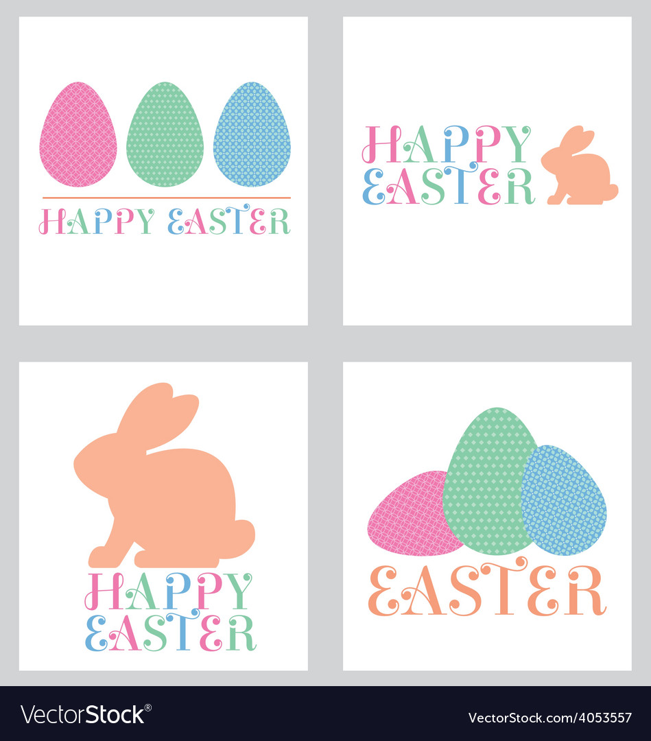 Easter greeting card pack pastel vector | Price: 1 Credit (USD $1)