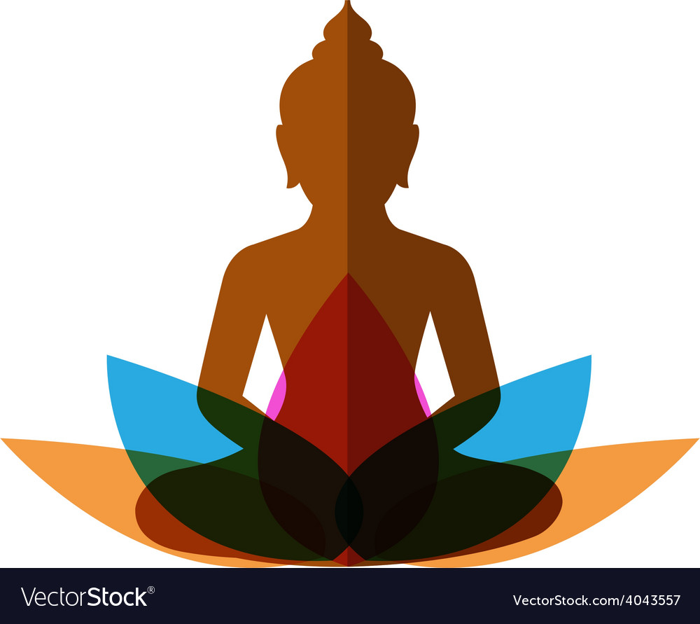 Meditation budha post vector | Price: 1 Credit (USD $1)