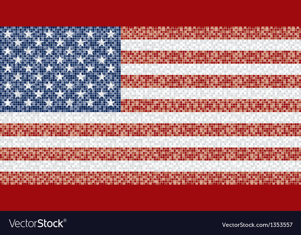 Mosaic american flag vector | Price: 1 Credit (USD $1)