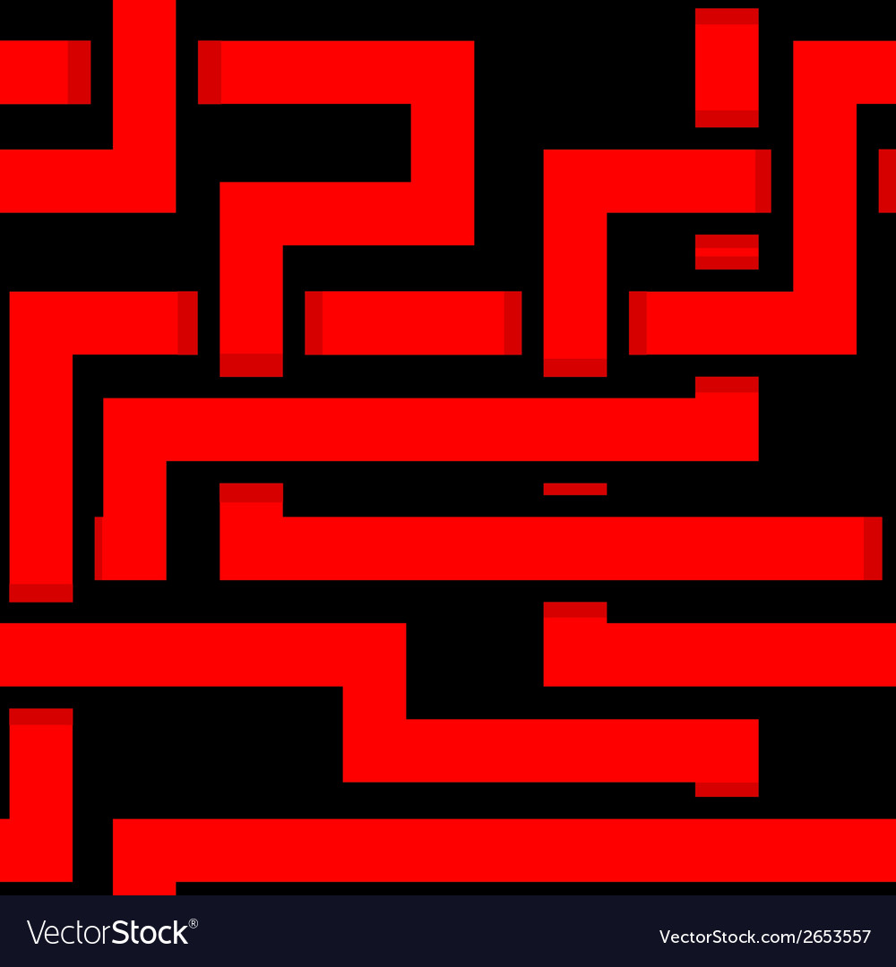 Seamless interwoven red ornament on a black vector | Price: 1 Credit (USD $1)