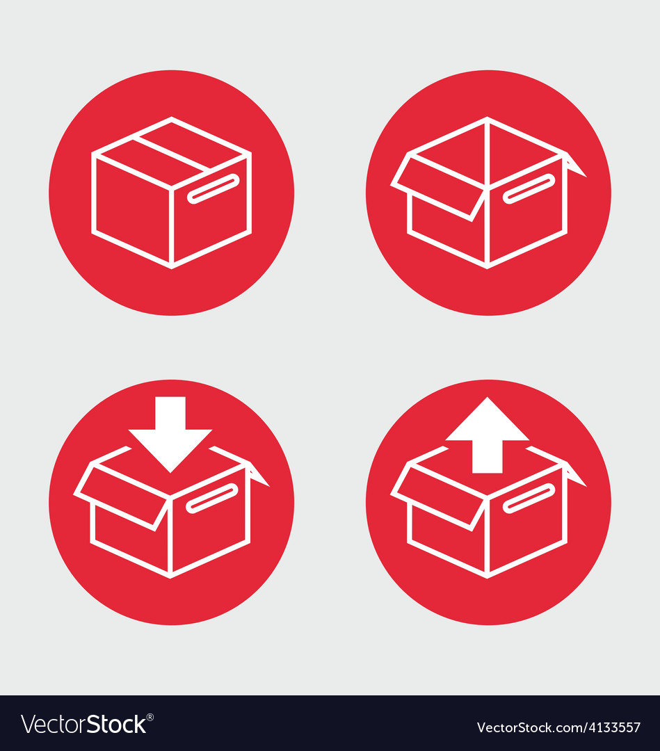 Shipping boxes vector | Price: 1 Credit (USD $1)