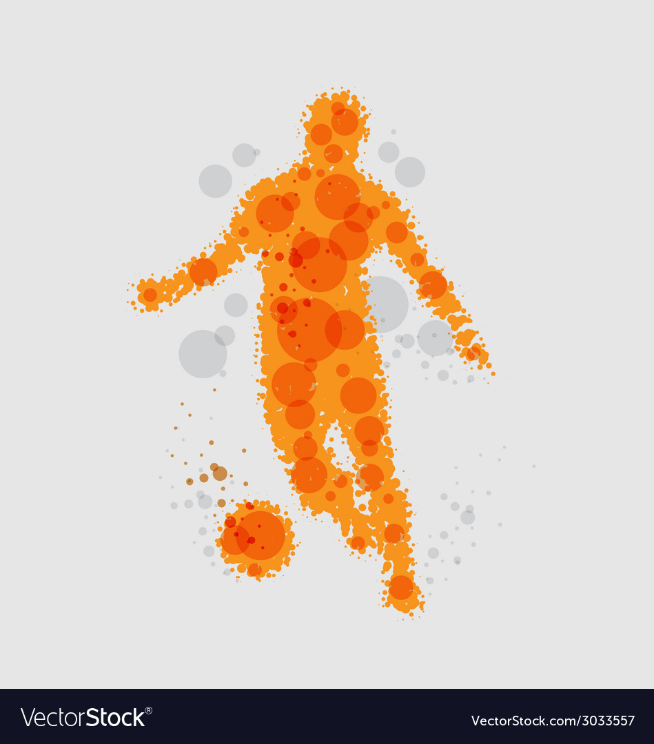 Soccer football player vector | Price: 1 Credit (USD $1)